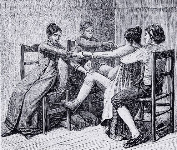 1800 S Colonial Scene On Demand: Midwifery In Wisconsin. The People's Voices. The Wisconsin